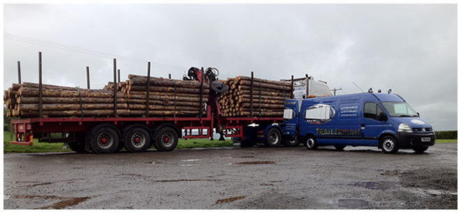 Logging trailer service/inspection